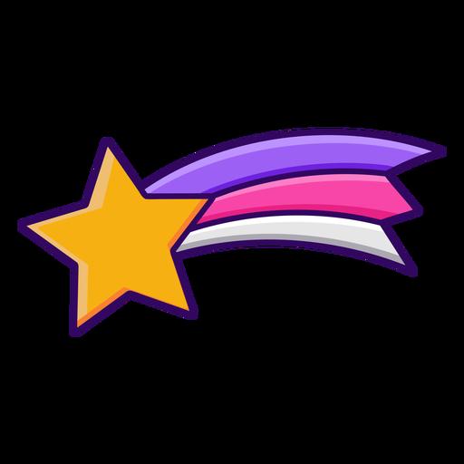 Estrella fugaz de trazo de color