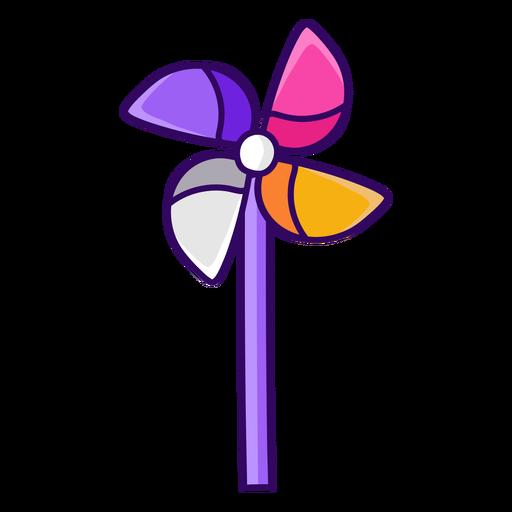 Color stroke simple pinwheel
