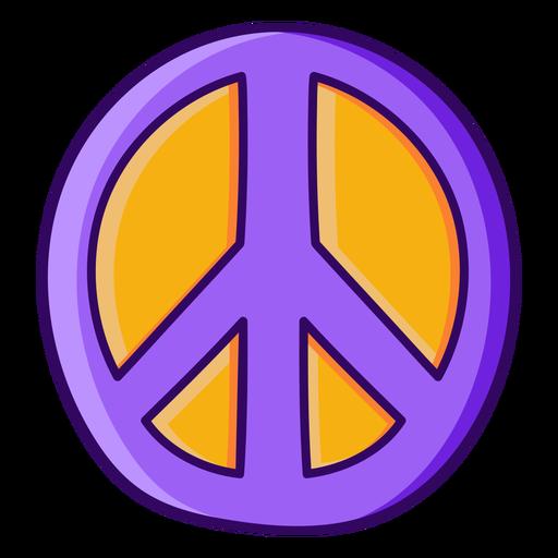 Color stroke peace symbol