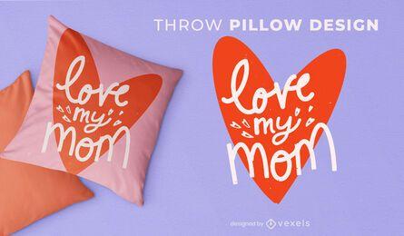 Amo a mi mamá diseño de almohada