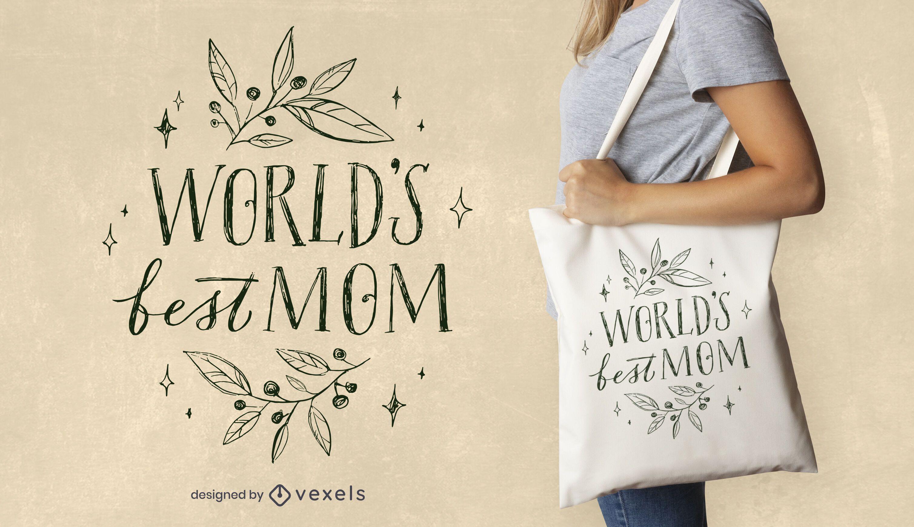 Best mom quote tote bag design