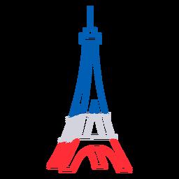 3d Eiffel tower Bastille stroke