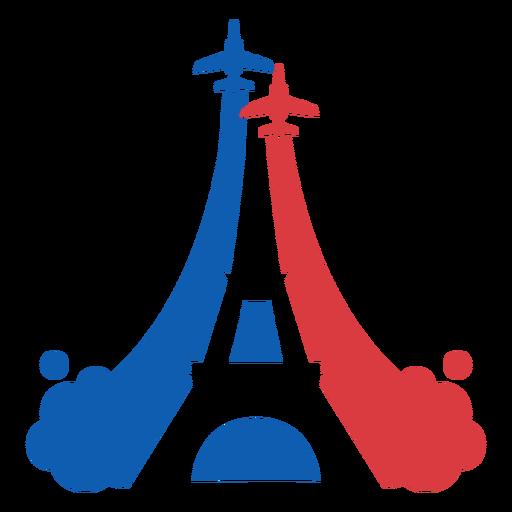 Air-force Eiffel tower duotone flat
