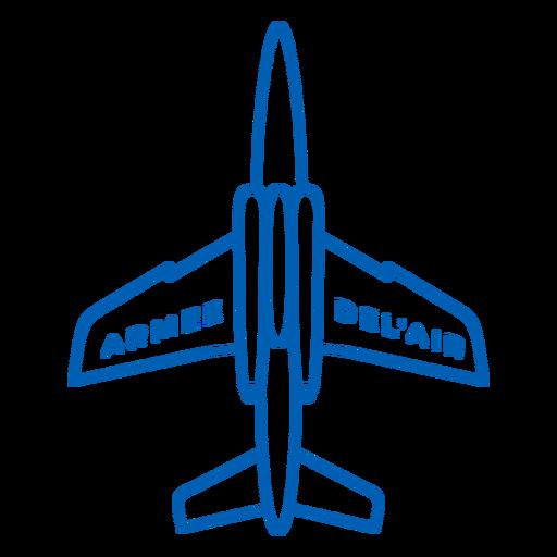 Armee-de-lair plane French stroke