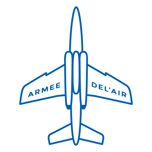 Armee-de-lair plane trazo franc?s