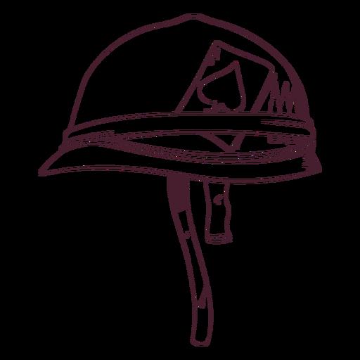 Army soldier hat hand-drawn