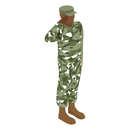 Army soldier salute flat