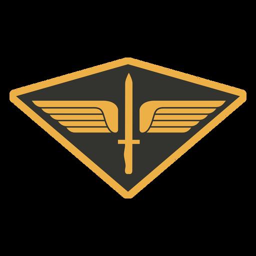 Army sword wings badge