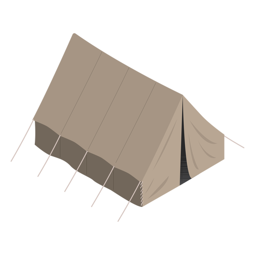 Army tent isometric
