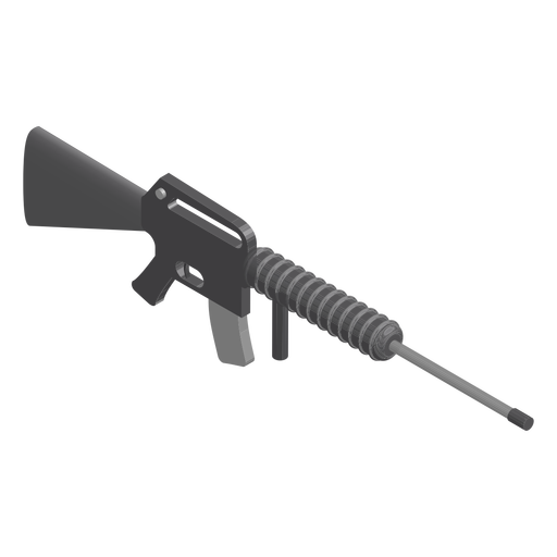 Assault rifle isometric