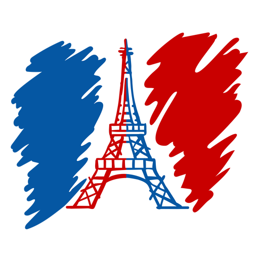 Bastille Day Eiffel Tower doodle