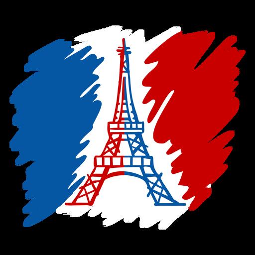 Doodle de la Torre Eiffel del día de la Bastilla