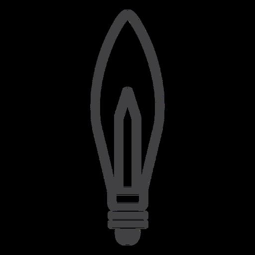 Candelabra light-bulb stroke