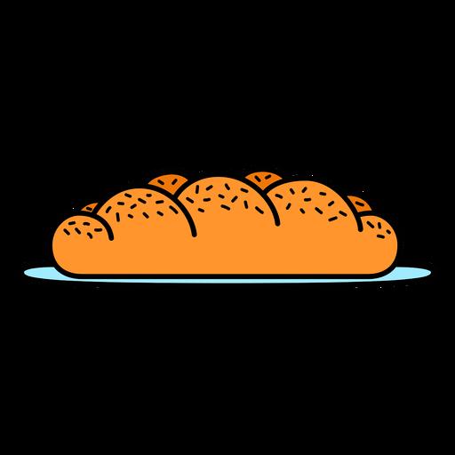 Challah bread color-stroke