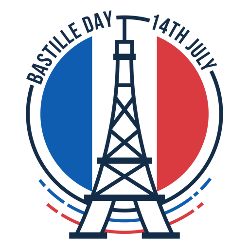Circle Eiffel tower Bastille day