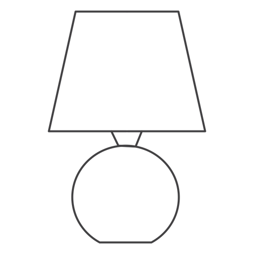Circle lamp thin-line stroke