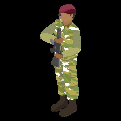 Combat beret soldier flat