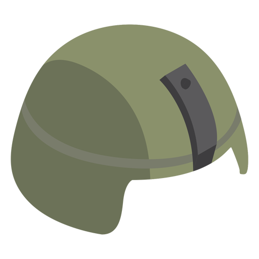 Combat military helmet flat