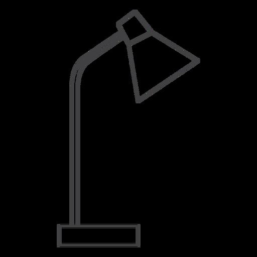 Desk lamp thin-line stroke