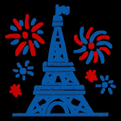 Eiffel Tower celebration doodle