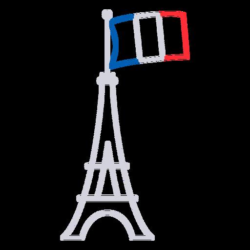 Eiffel tower France stroke