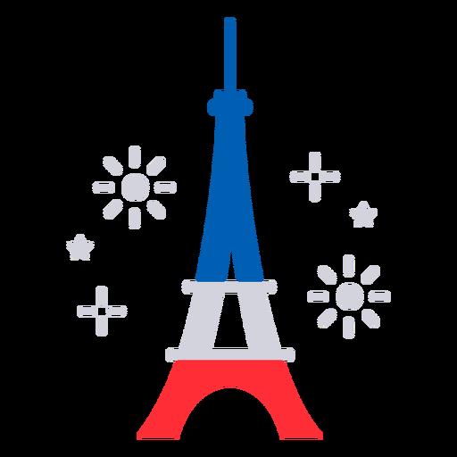Eiffel tower fireworks flat