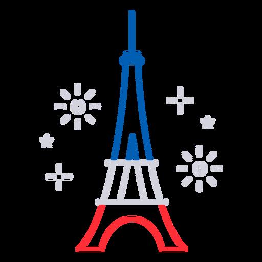 Eiffel tower fireworks stroke