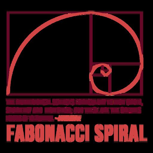 Insignia en espiral de Fabonacci