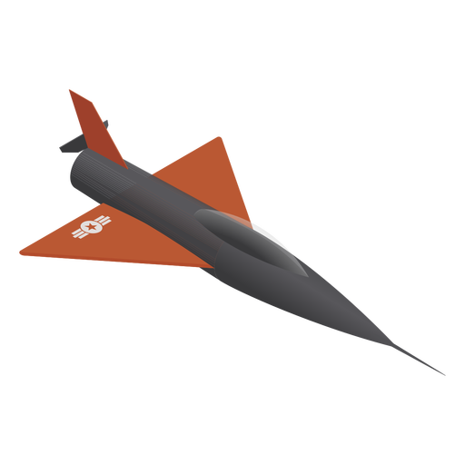 Fighter jet military isometric