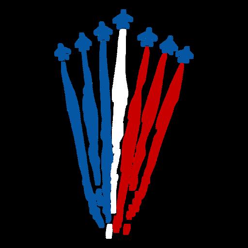 French air-force Bastille celebration doodle