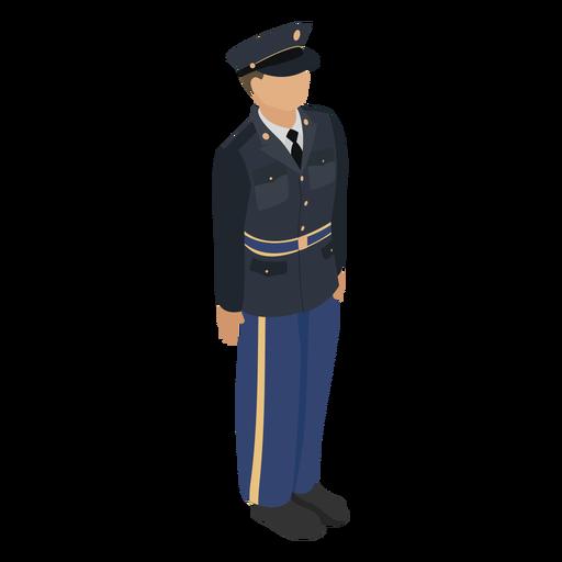 Full dress uniform army isometric