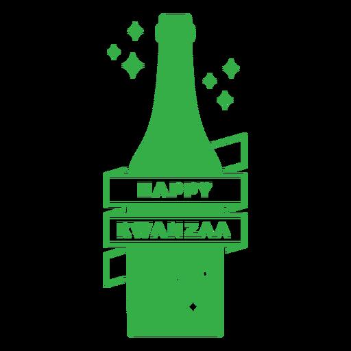 Feliz botella de Kwanzaa brillo