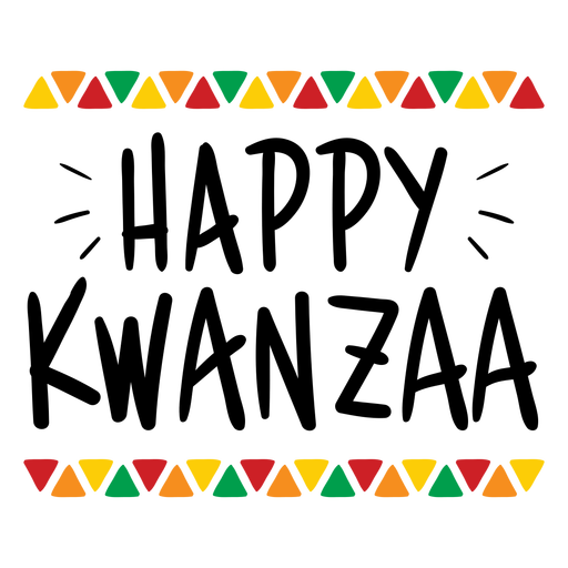 Happy Kwanzaa colorful lettering
