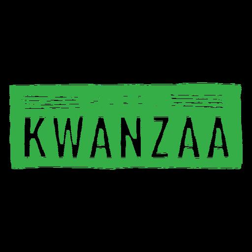Letras de placa feliz Kwanzaa