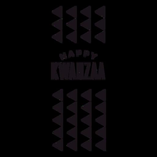 Happy Kwanzaa triangles