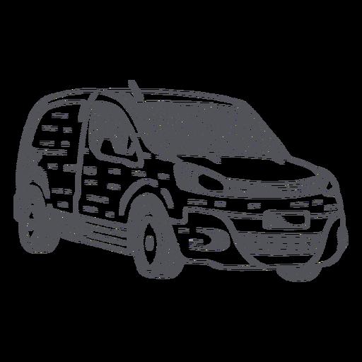 Hatchback car hand-drawn