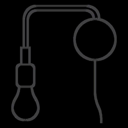 Industrial lamp fixture line art