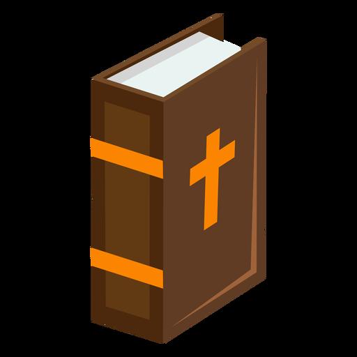Biblia de pie isométrica plana