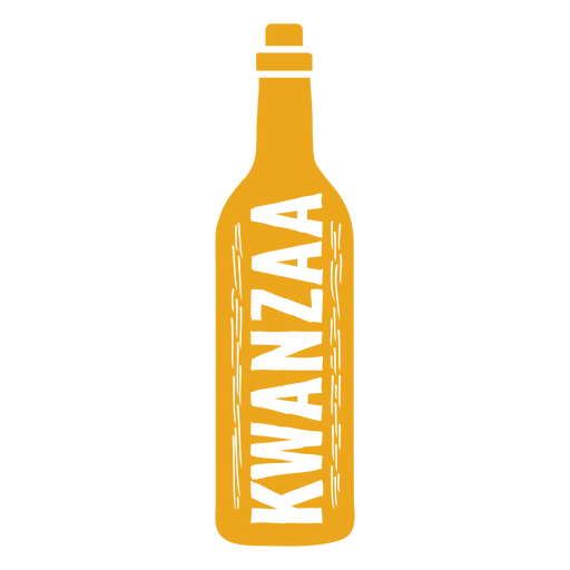 Botella Kwanzaa vertical