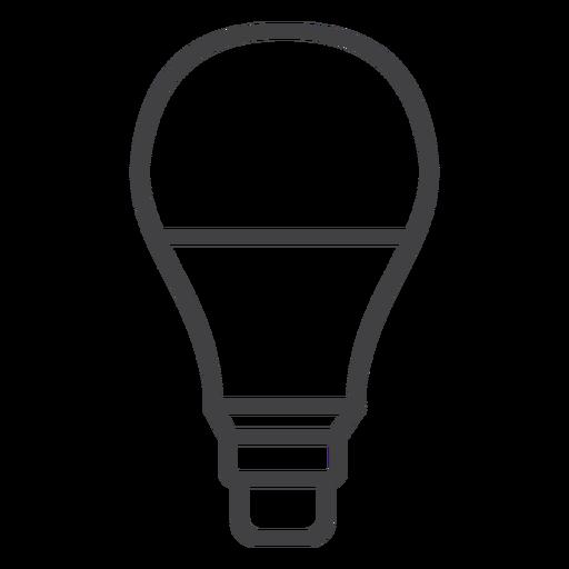 Trazo de bombilla LED