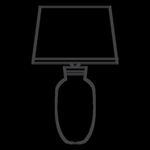 Lamp bedside table stroke