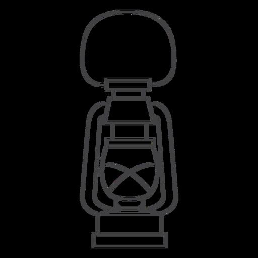 Arte em linha de lanterna de lâmpada