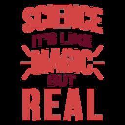 Magic science quote badge