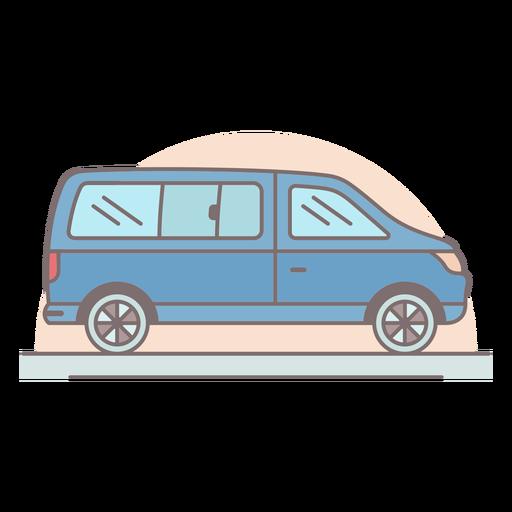 Trazo de color de camioneta mediana