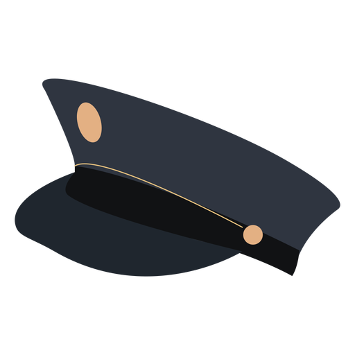 Military peaked cap flat