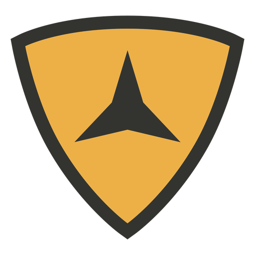 Military triangle patch badge