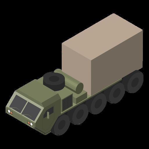 Military trucks isometric flat