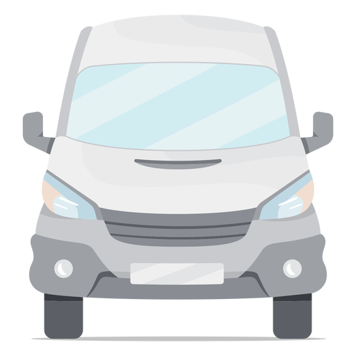 Mini-bus van front flat