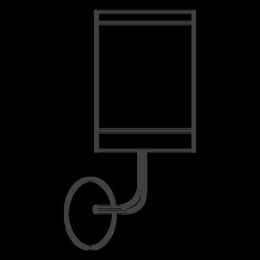 Arte de linha de arandela minimalista