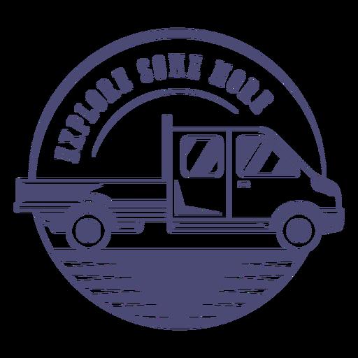 Insignia de exploración de camión monocromo